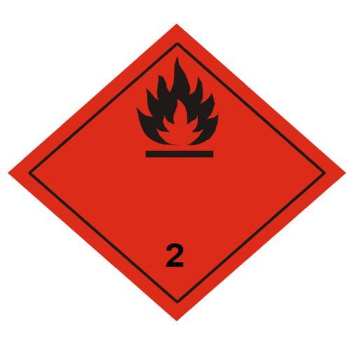 Etiqueta ADR Clase 2.1 Gases inflamables
