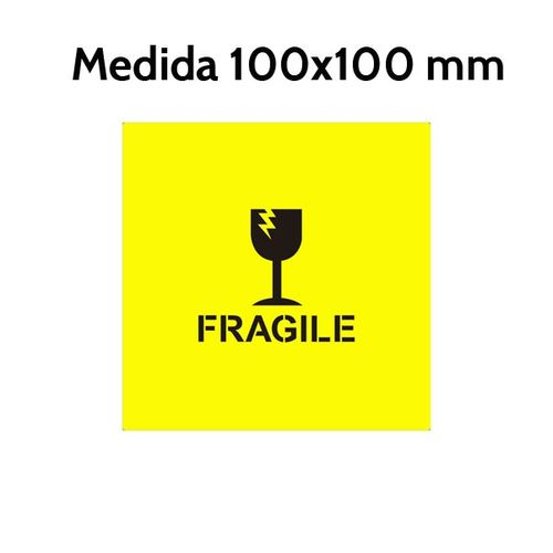 Etiqueta FRAGILE 100 x 100 mm