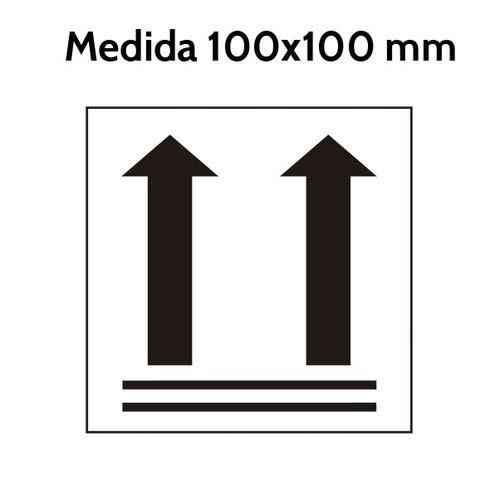 Etiqueta Flechas orientacion verticales 100 x 100 mm