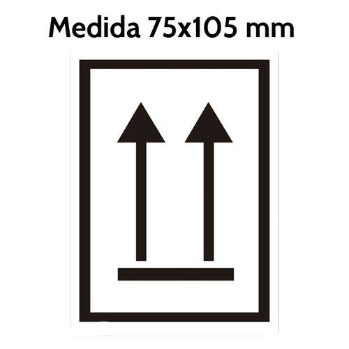 Etiqueta Flechas orientacion verticales 75 x 105 mm