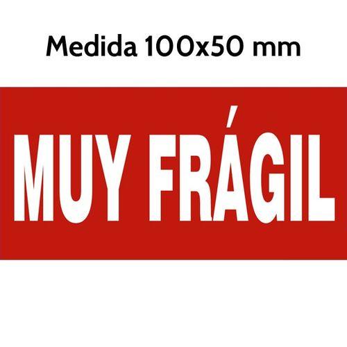 Etiquetas MUY FRAGIL roja 100×50 mm