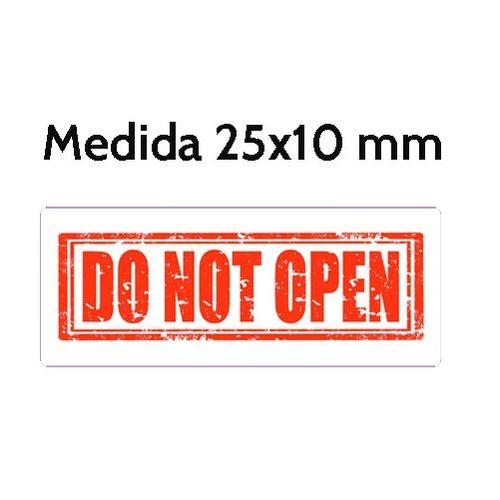 Etiquetas Seguridad DO NOT OPEN 25×10 mm