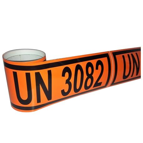 Panel naranja reducido con números personalizados: