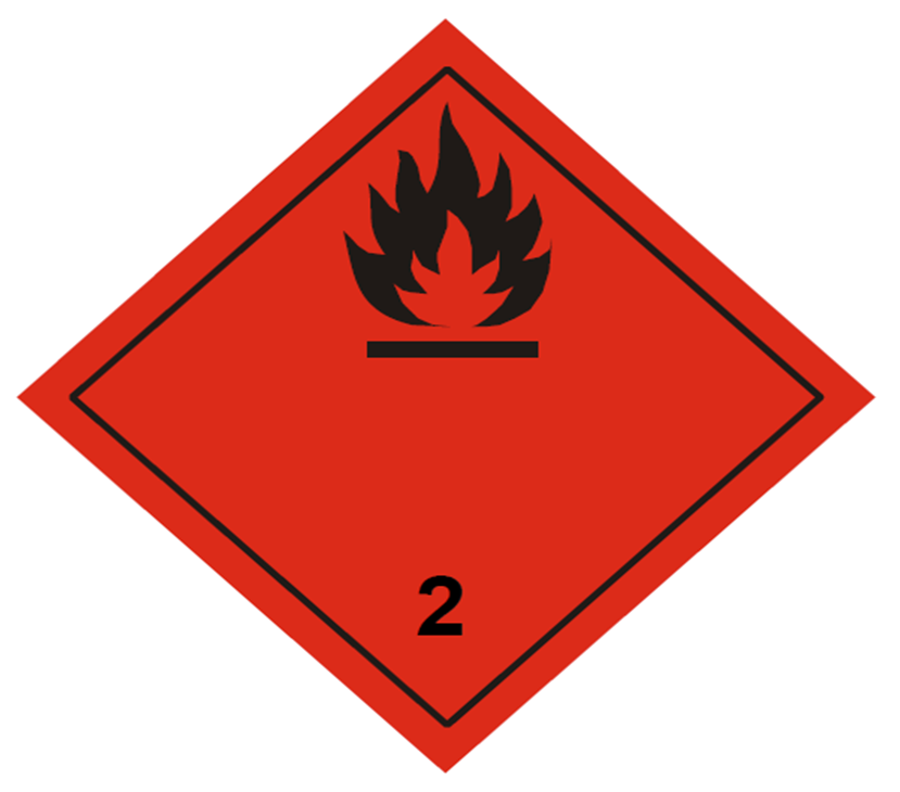 Etiqueta ADR Clase 2.1
