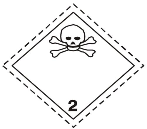 Etiqueta ADR Clase 2.3