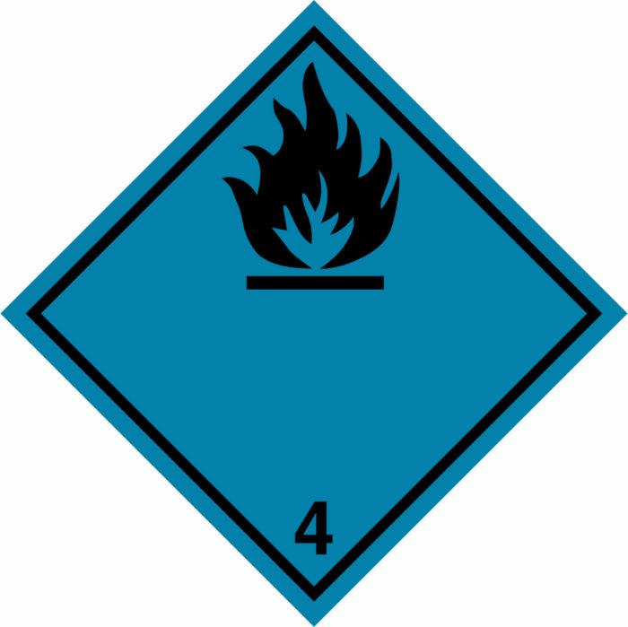 Etiqueta ADR Clase 4.3