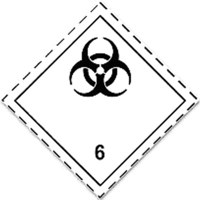 Etiqueta ADR Clase 6.2