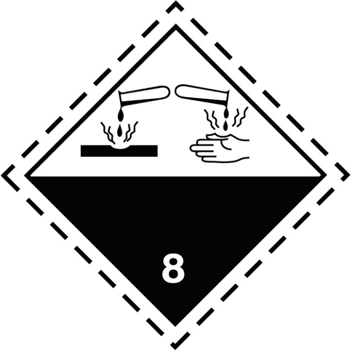 Etiqueta ADR Clase 8