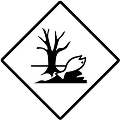 etiqueta marca peligro para el medioambiente