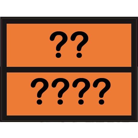 Panel naranja adhesivo 300x400