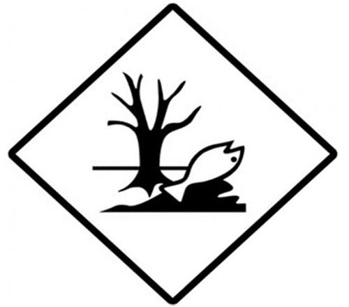 Etiqueta ADR árbol y pez muerto