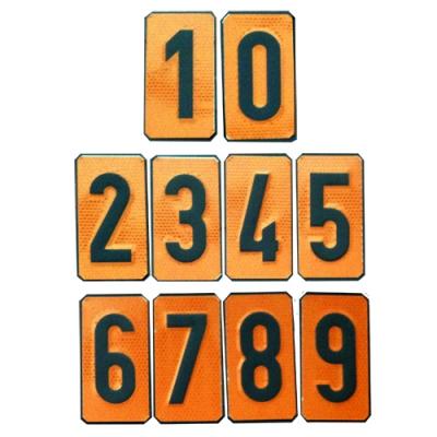 Panel Naranja números intercambiables